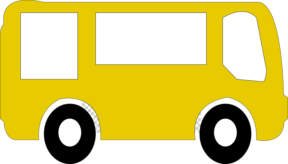 žlutá dodávka