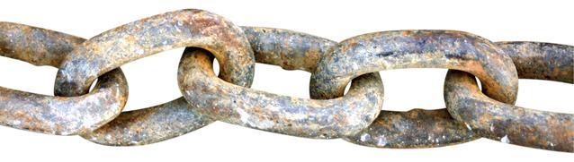 starý dobrý řetěz, který se jen tak nerozpadne